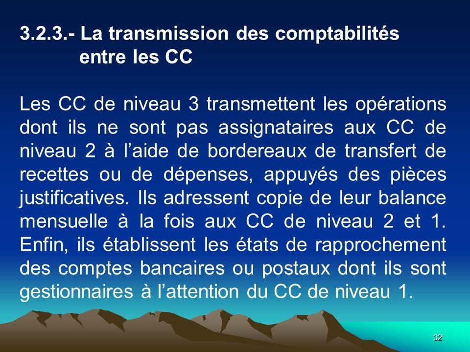 3.2.3.- La transmission des comptabilités entre les CC