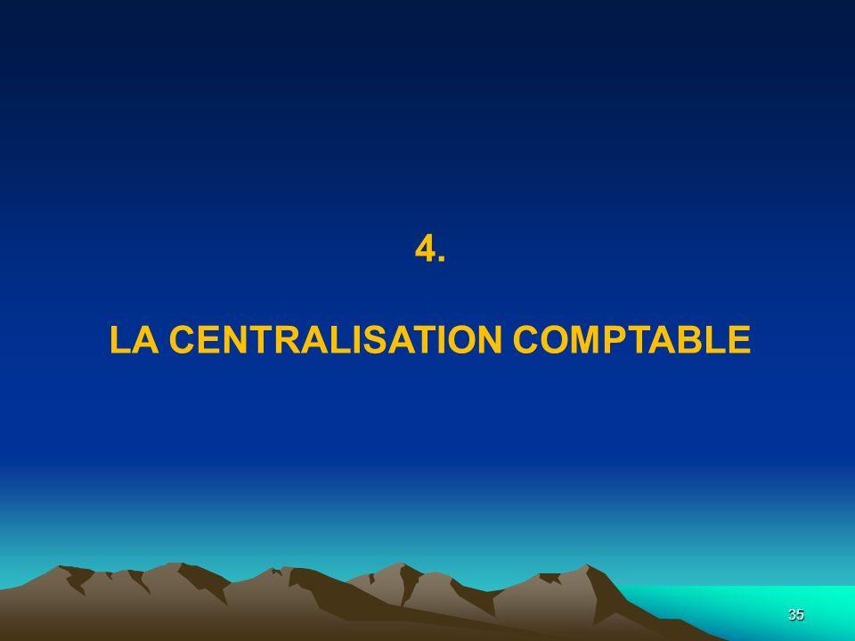 La centralisation comptable