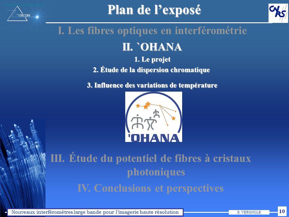 `OHANA : objectifs Collaboration Observatoire de Meudon, INSU, IRCOM, UH. Liaison par fibres optiques unimodales.
