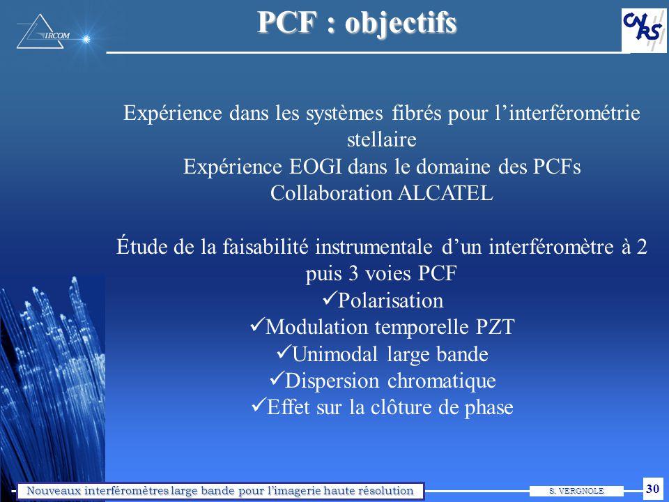 PCF : caractéristiques