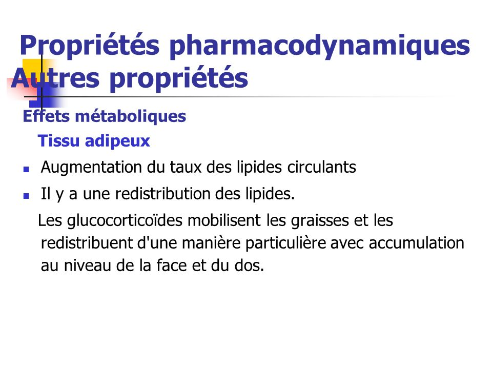 Propriétés pharmacodynamiques Autres propriétés