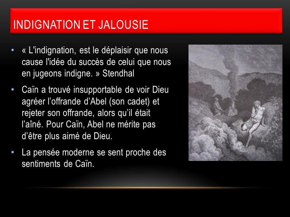 Indignation et jalousie