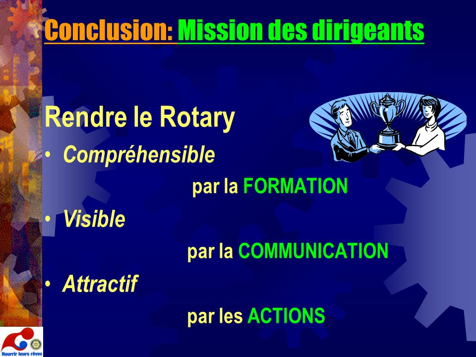Conclusion: Mission des dirigeants