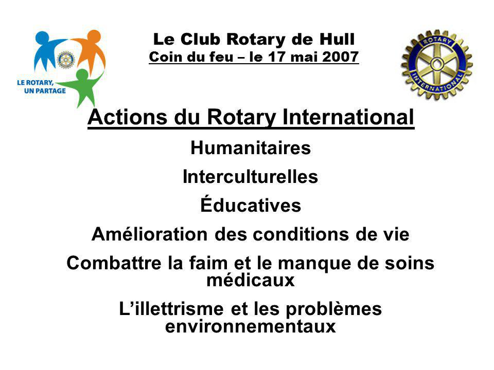 Actions du Rotary International