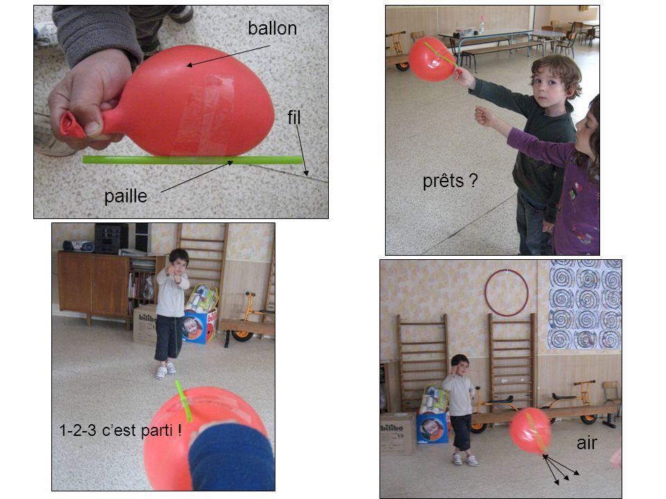 ballon fil prêts paille 1-2-3 c'est parti ! air