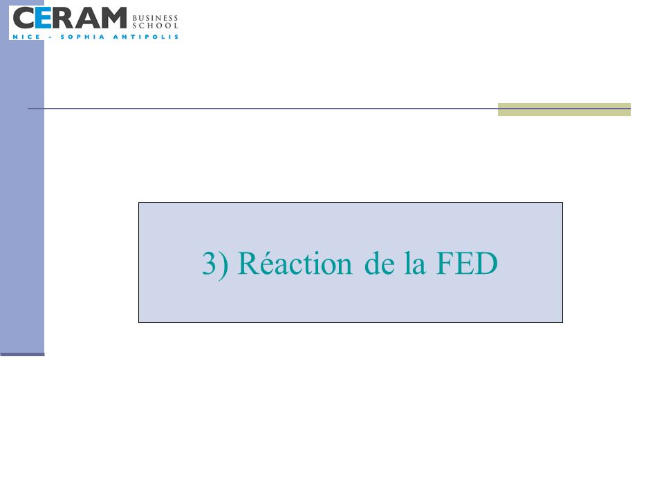 3) Réaction de la FED