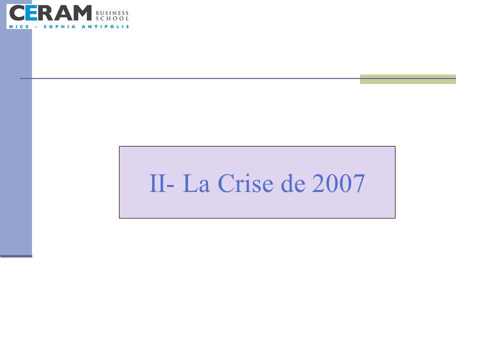 II- La Crise de 2007