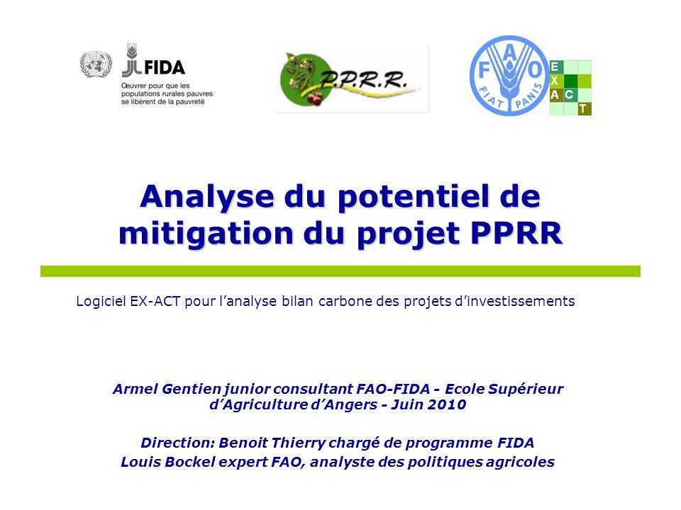 Analyse du potentiel de mitigation du projet PPRR