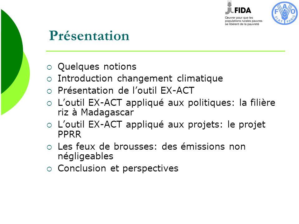 Présentation Quelques notions Introduction changement climatique