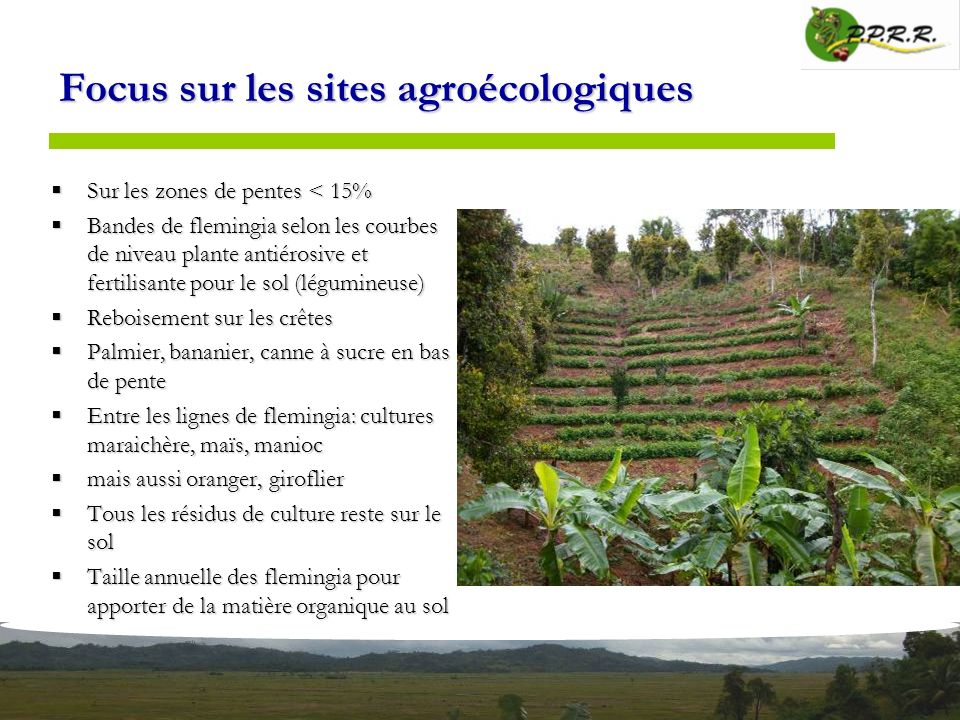 Focus sur les sites agroécologiques
