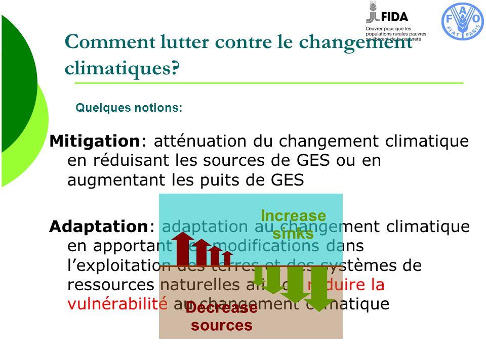 Comment lutter contre le changement climatiques
