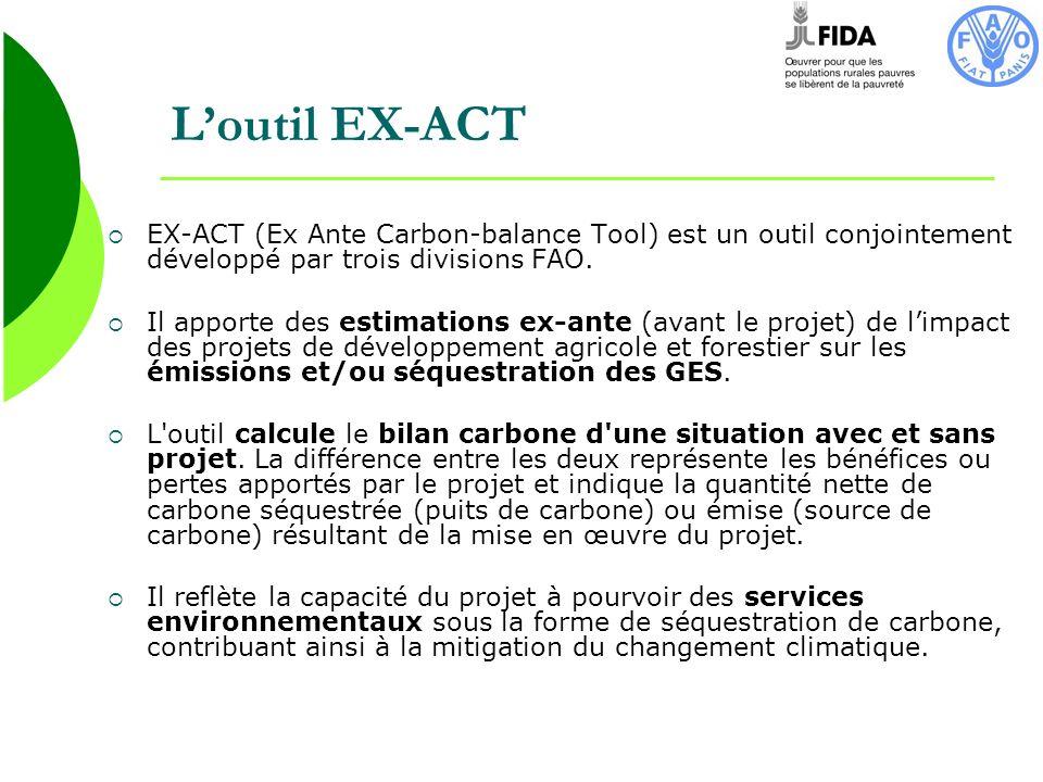 L'outil EX-ACT EX-ACT (Ex Ante Carbon-balance Tool) est un outil conjointement développé par trois divisions FAO.