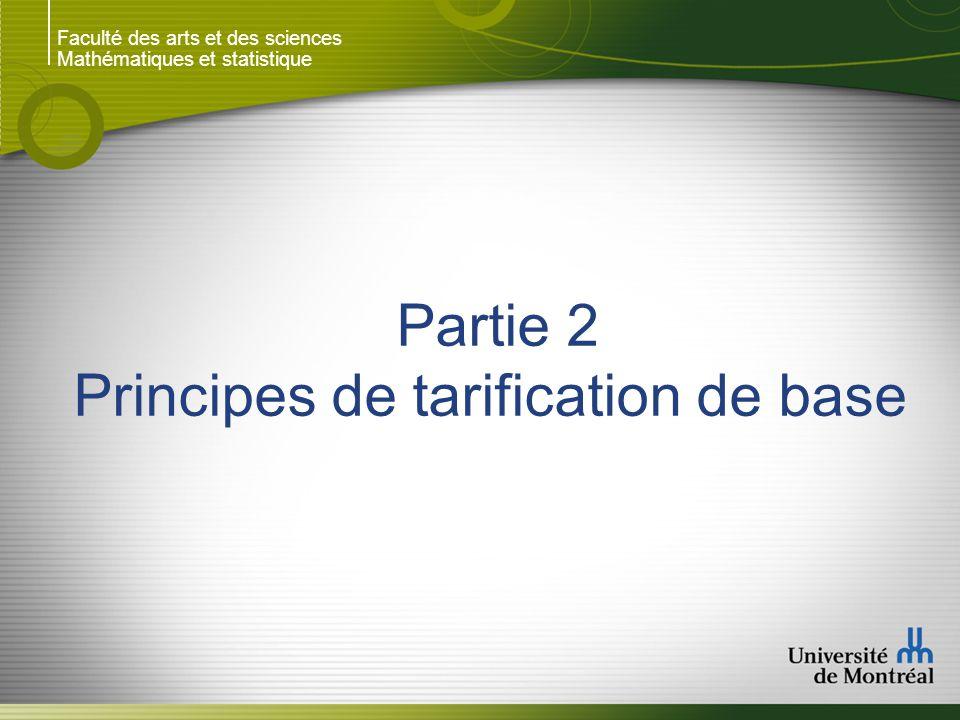Principes de tarification de base