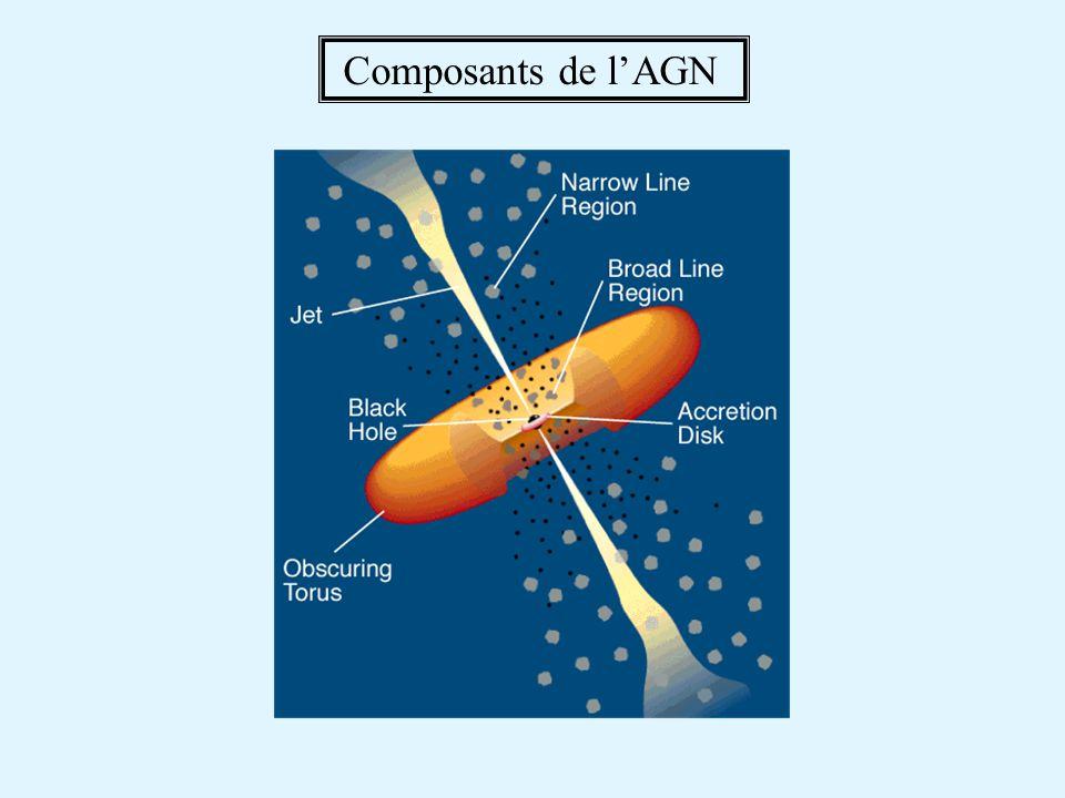 Composants de l'AGN