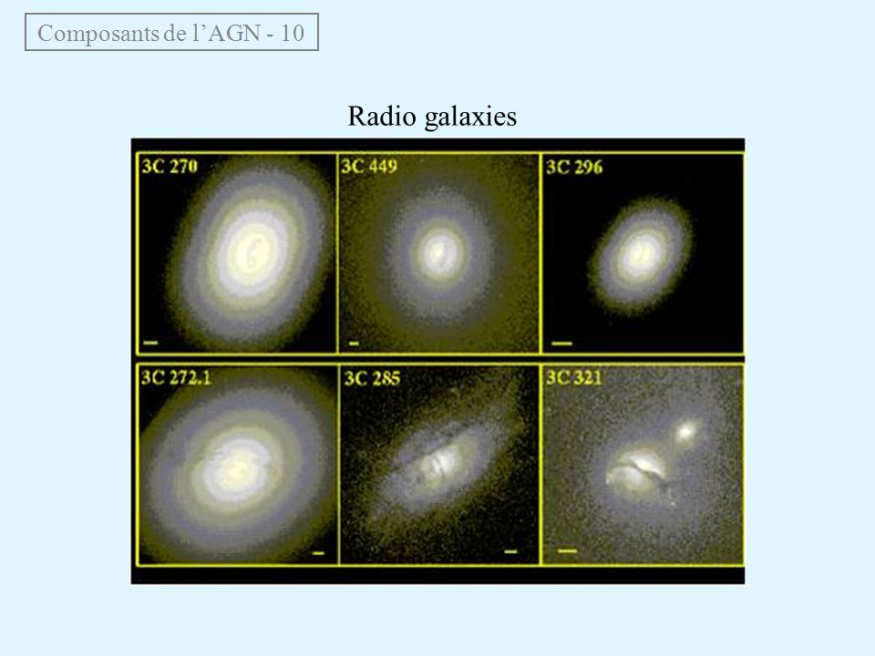 Composants de l'AGN - 10 Radio galaxies