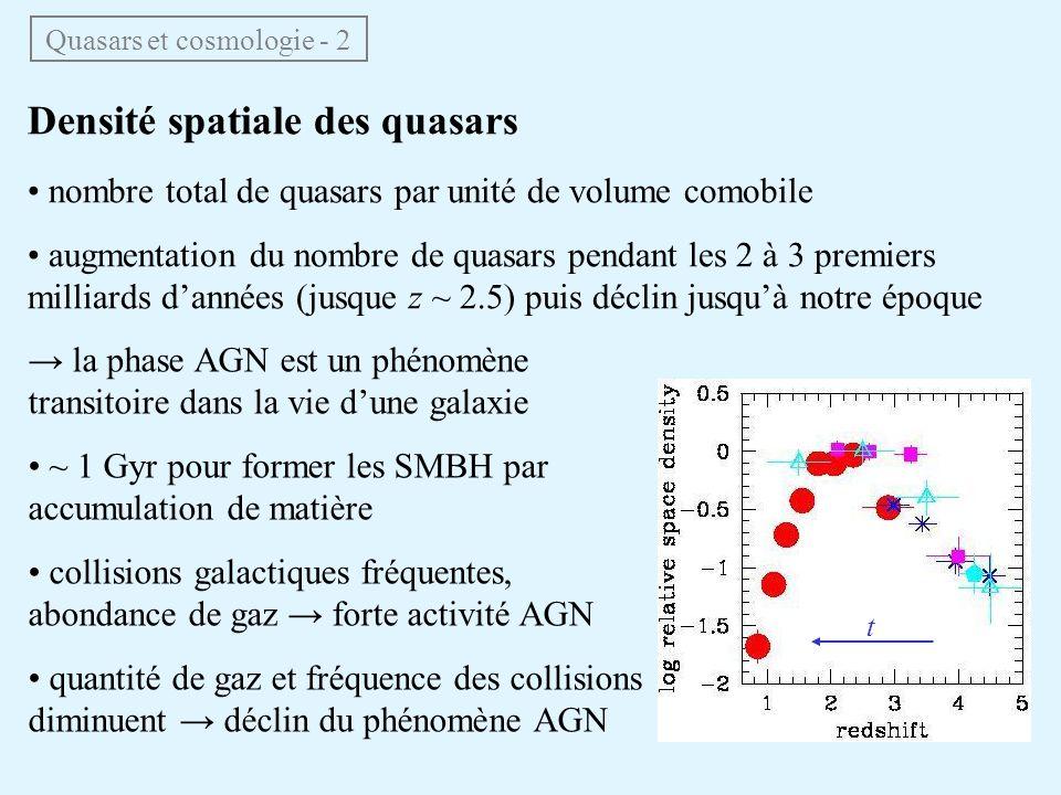 Quasars et cosmologie - 2