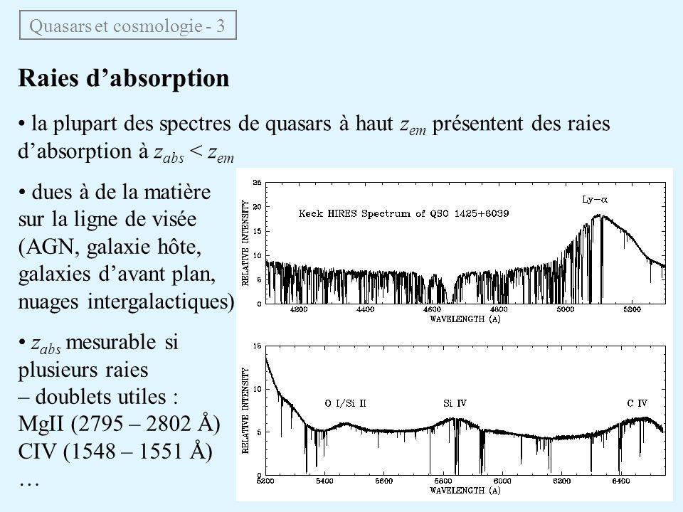 Quasars et cosmologie - 3