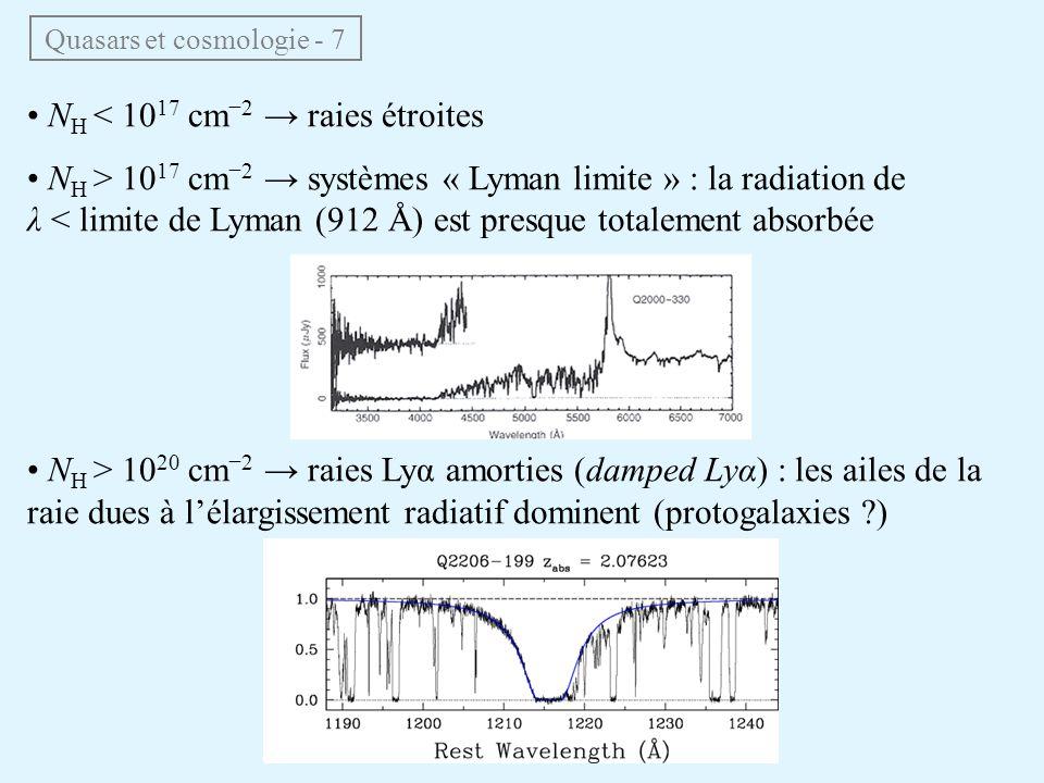 Quasars et cosmologie - 7