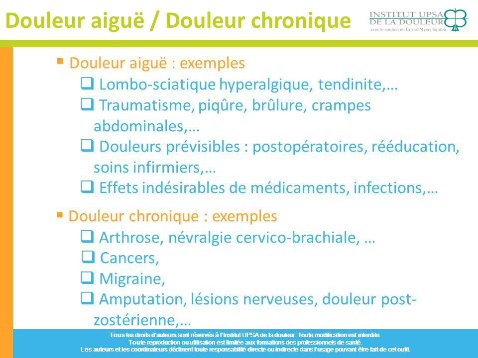 Douleur aiguë / Douleur chronique