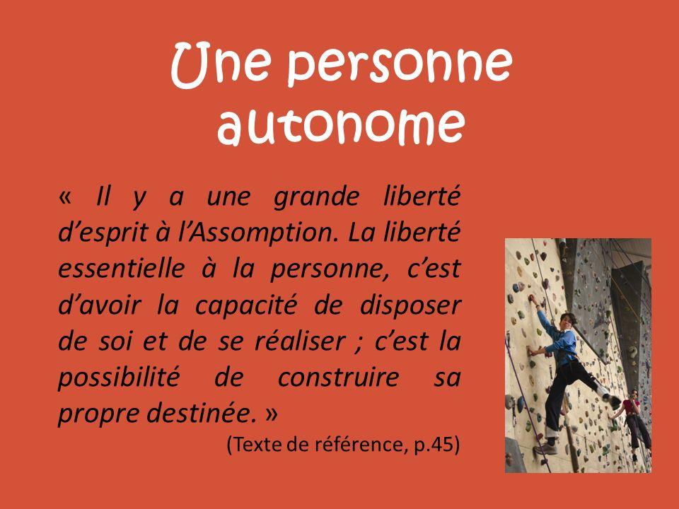 Une personne autonome