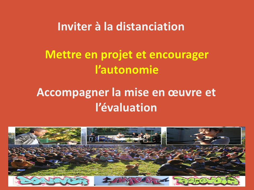 Inviter à la distanciation