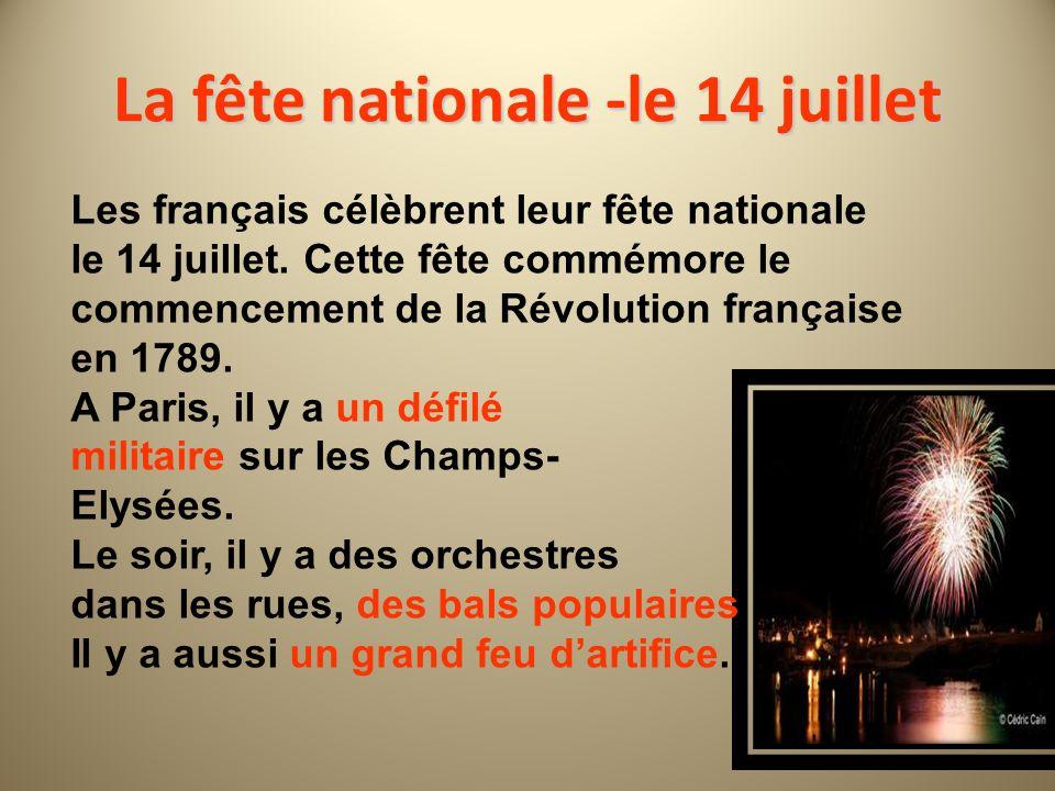 La fête nationale -le 14 juillet