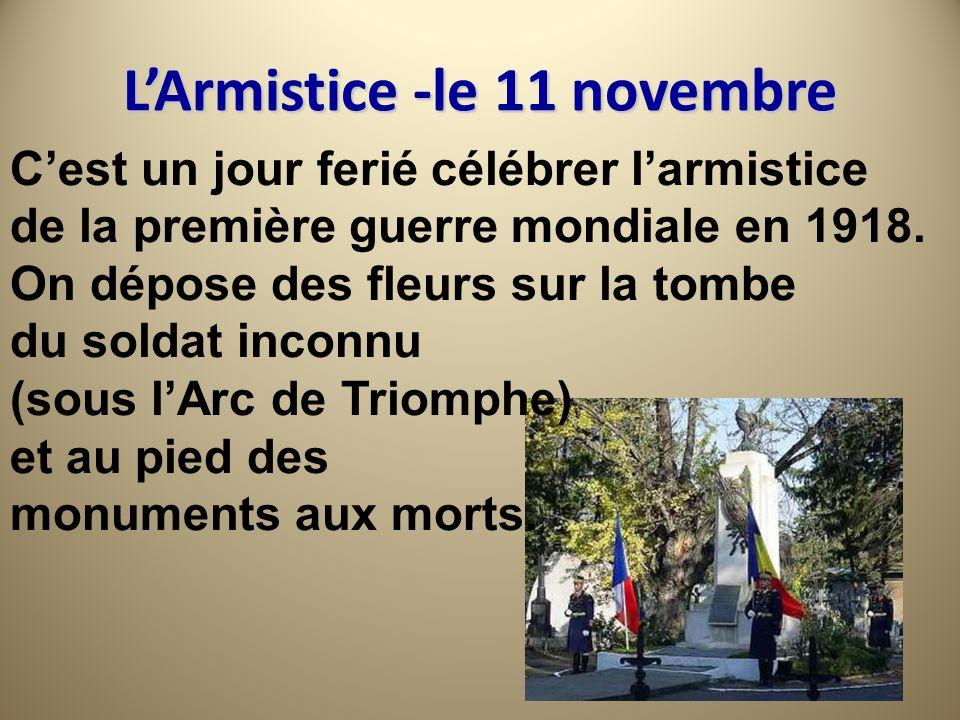 L'Armistice -le 11 novembre