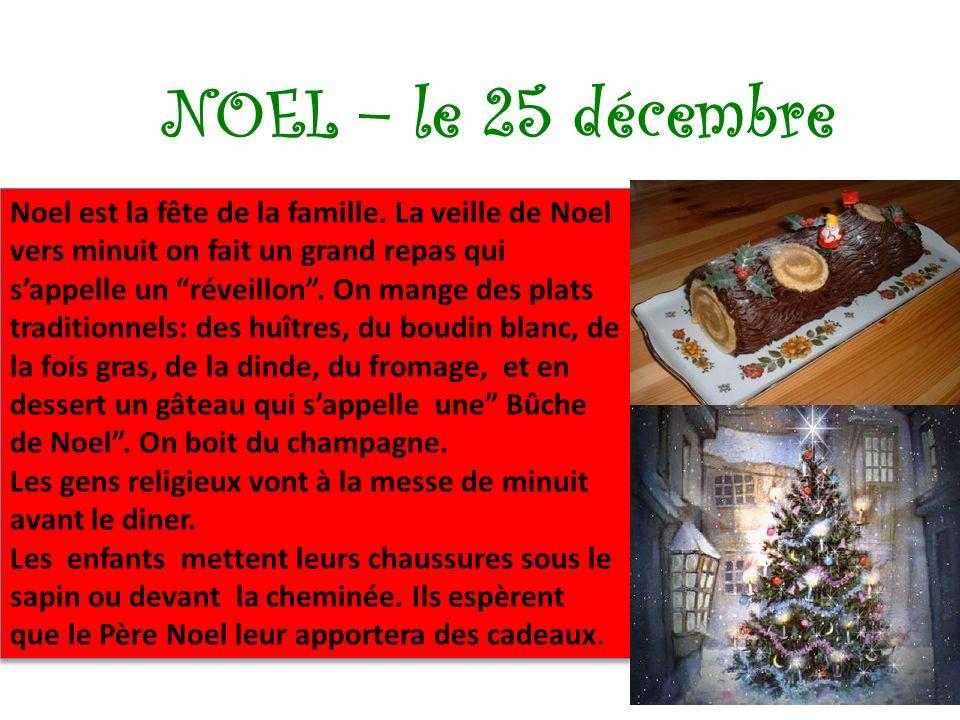 NOEL – le 25 décembre