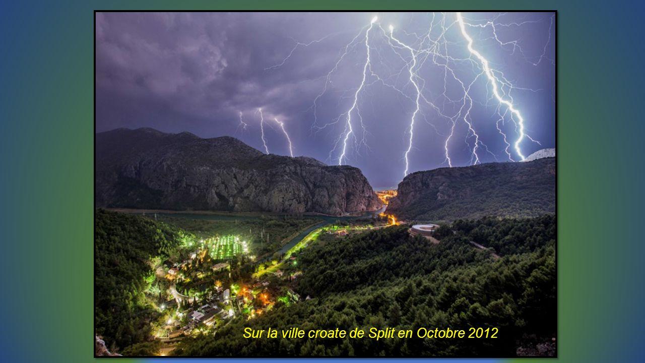 Sur la ville croate de Split en Octobre 2012