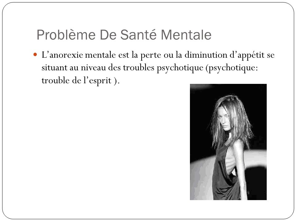 Problème De Santé Mentale