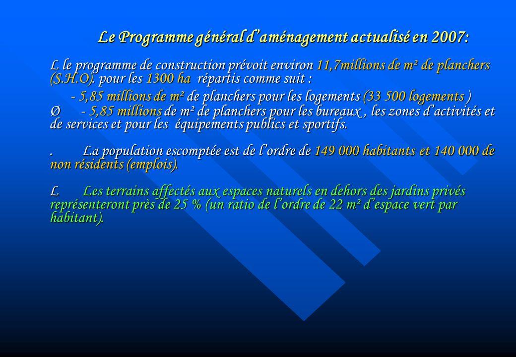 Le Programme général d'aménagement actualisé en 2007: