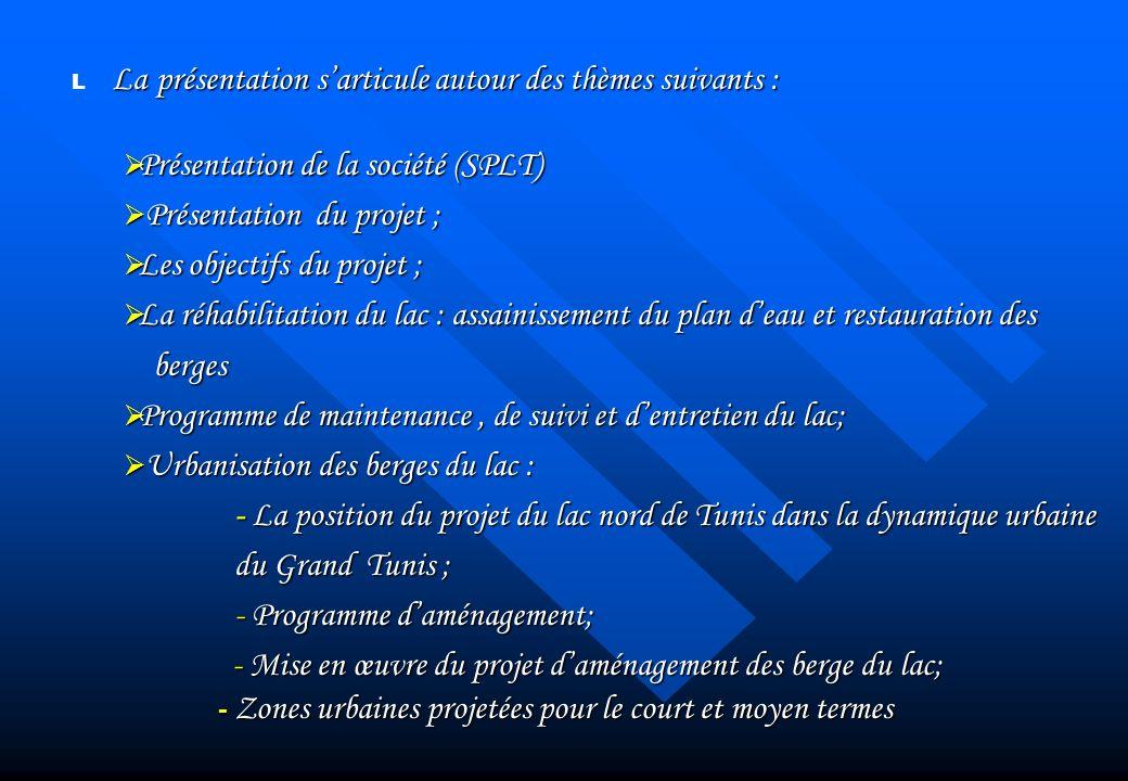 Présentation de la société (SPLT) Présentation du projet ;