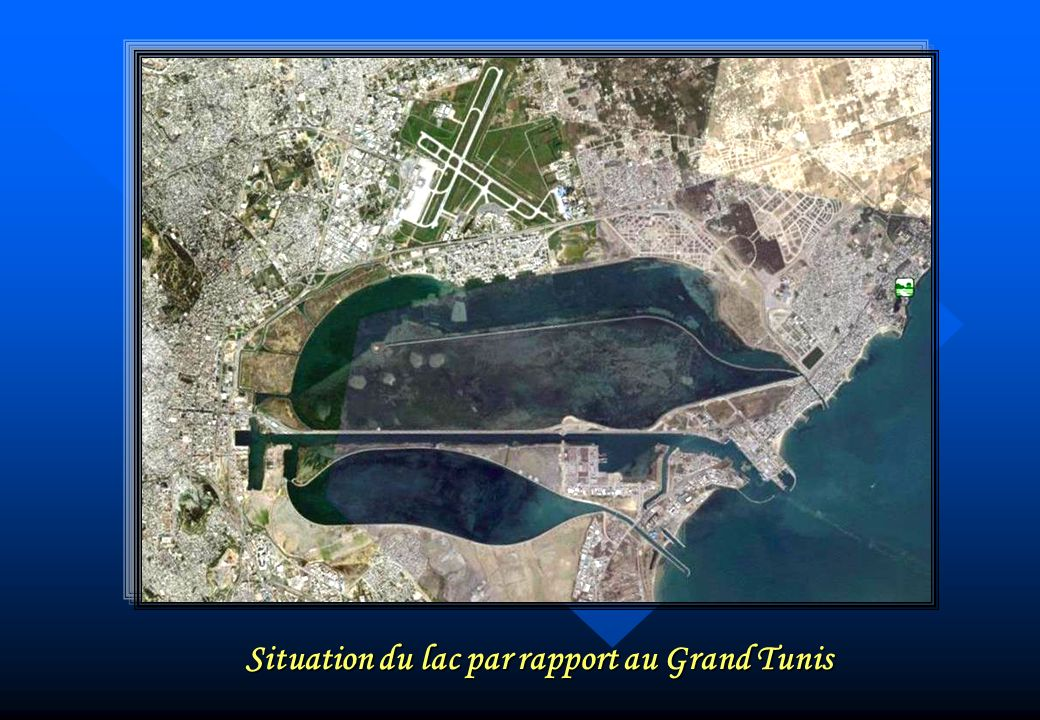 Situation du lac par rapport au Grand Tunis