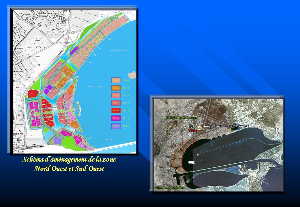 Schéma d'aménagement de la zone Nord-Ouest et Sud-Ouest