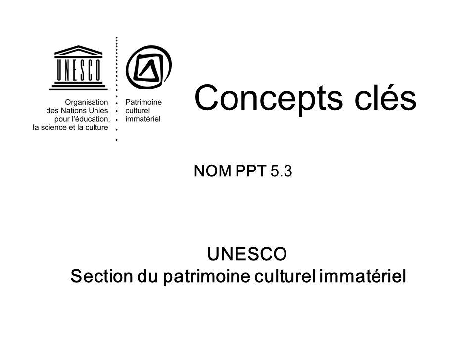 Section du patrimoine culturel immatériel