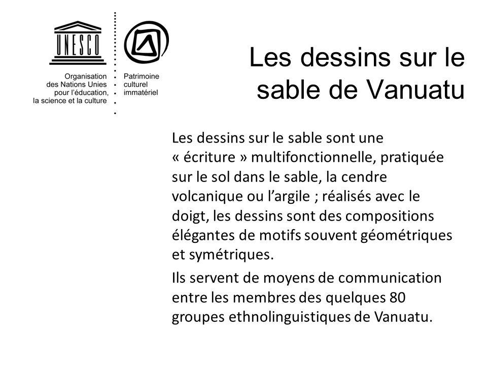 Les dessins sur le sable de Vanuatu