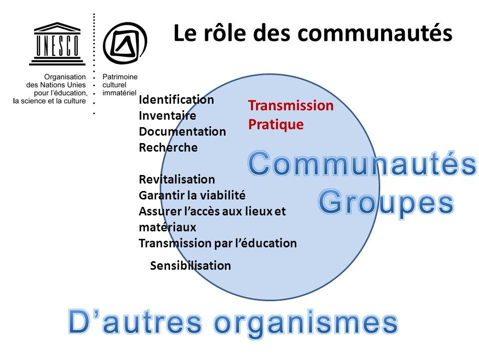 Le rôle des communautés