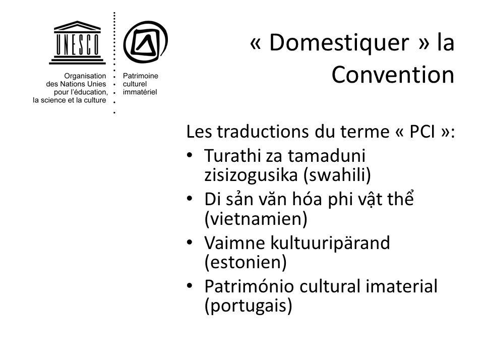 « Domestiquer » la Convention