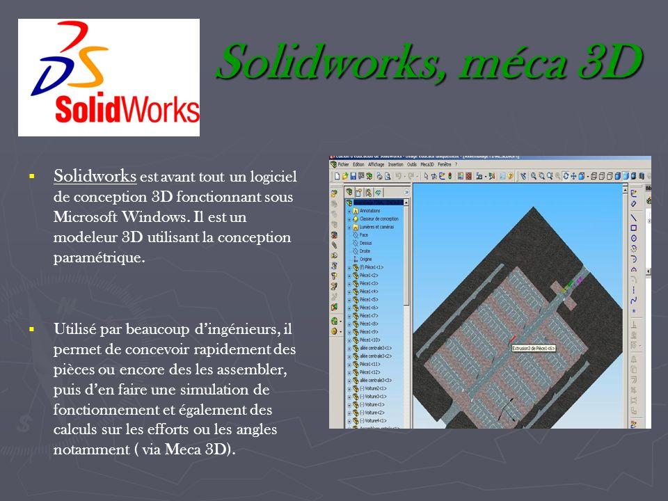 Solidworks, méca 3D
