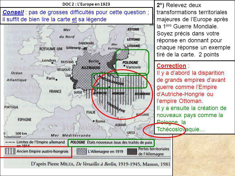 DOC 2 : L'Europe en 1923
