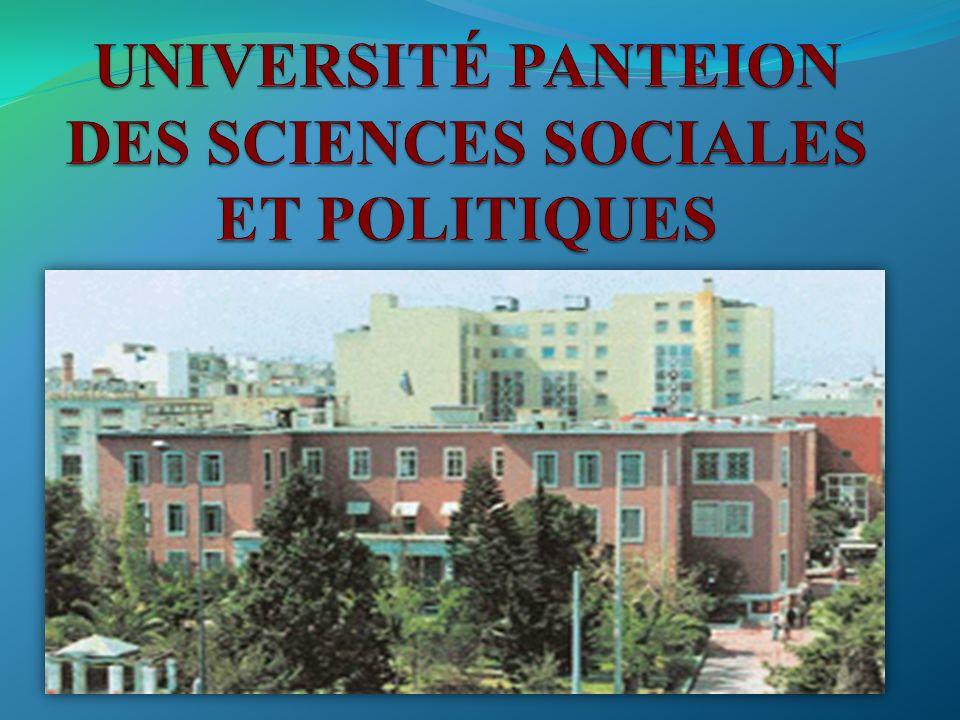 UNIVERSITÉ PANTEION DES SCIENCES SOCIALES ET POLITIQUES