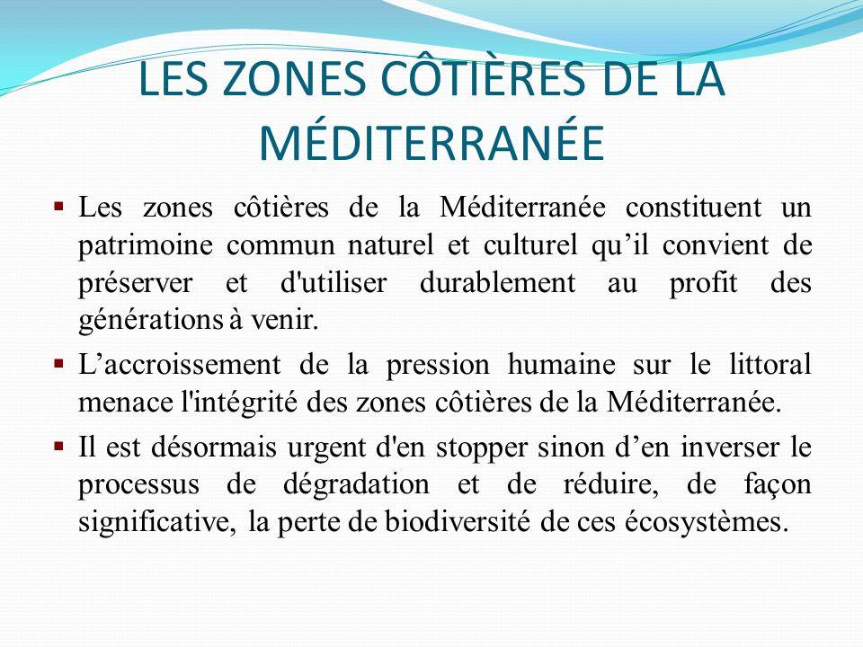 LES ZONES CÔTIÈRES DE LA MÉDITERRANÉE