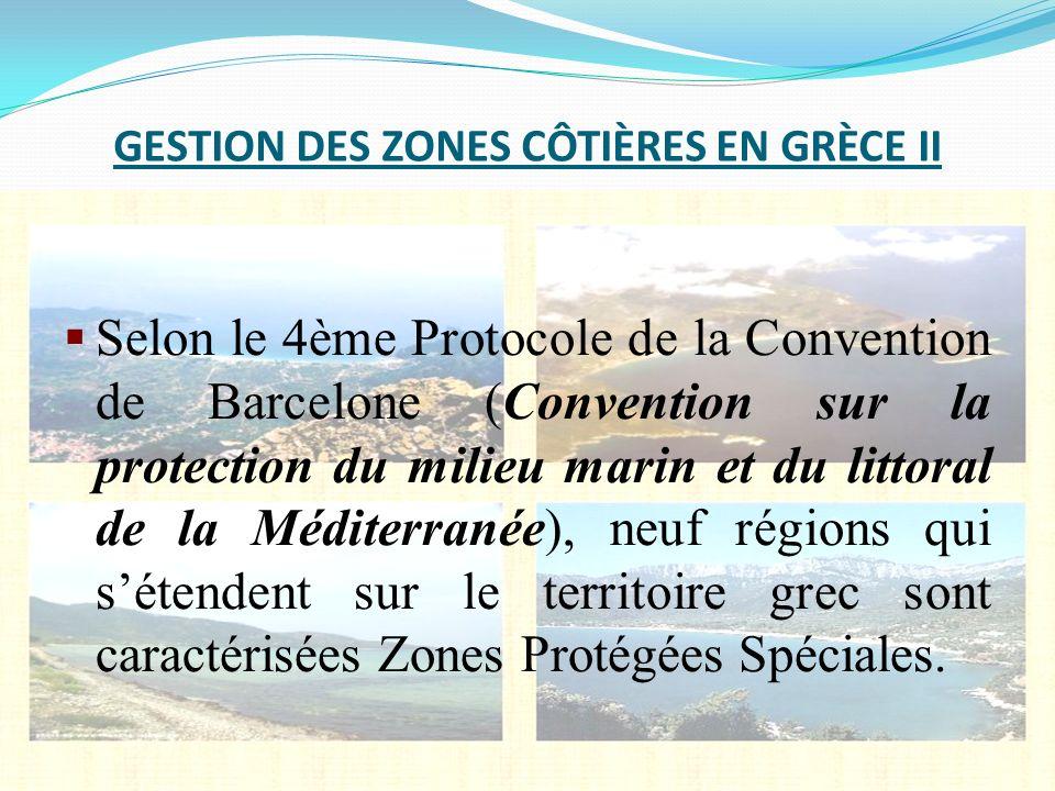 GESTION DES ZONES CÔTIÈRES EN GRÈCE II