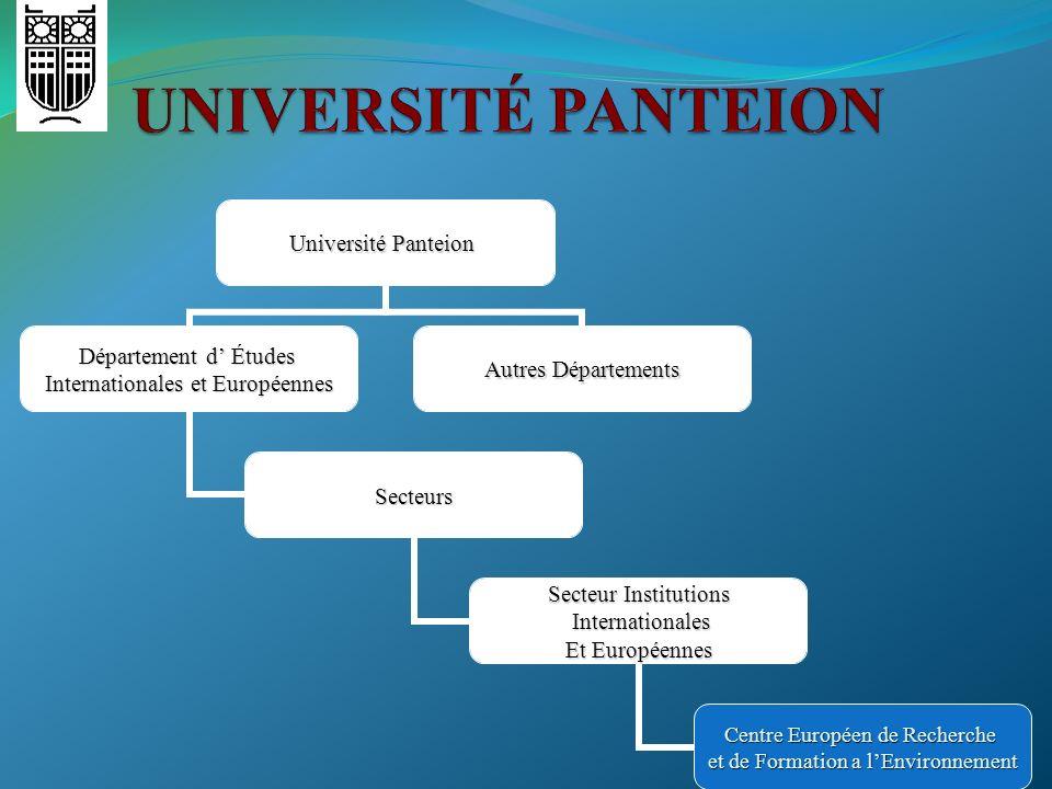 UNIVERSITÉ PANTEION
