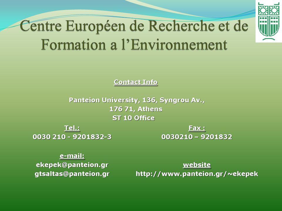 Centre Européen de Recherche et de Formation a l'Environnement