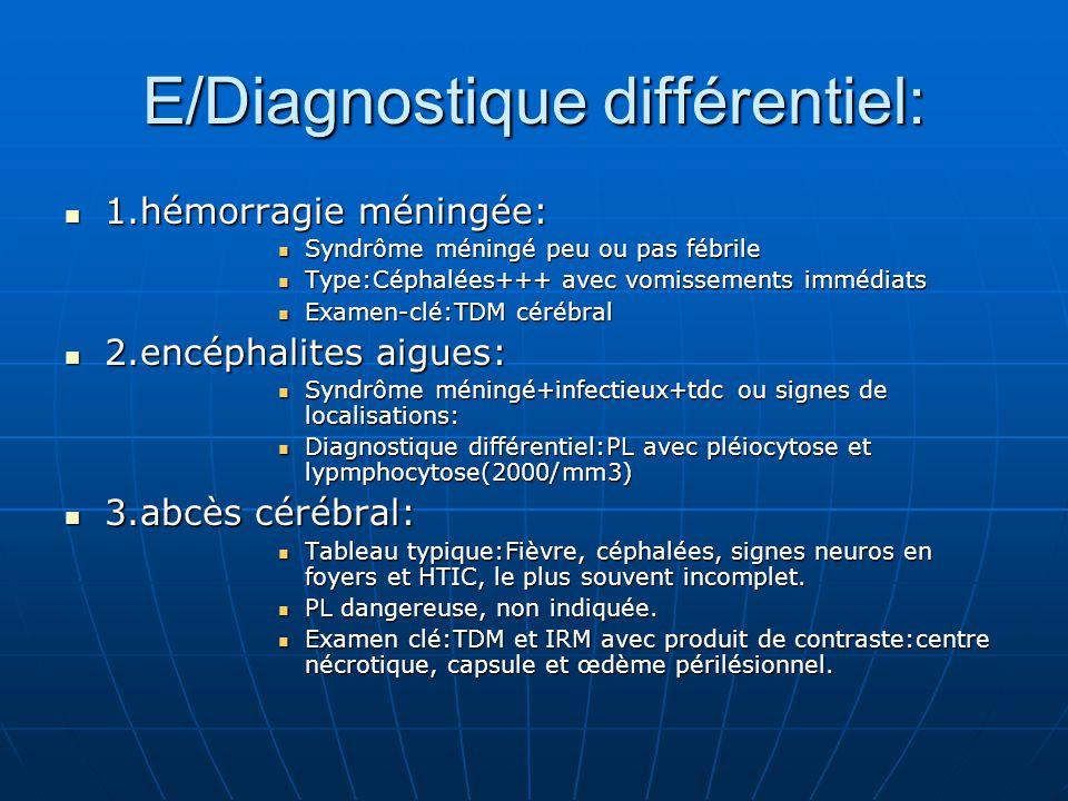 E/Diagnostique différentiel: