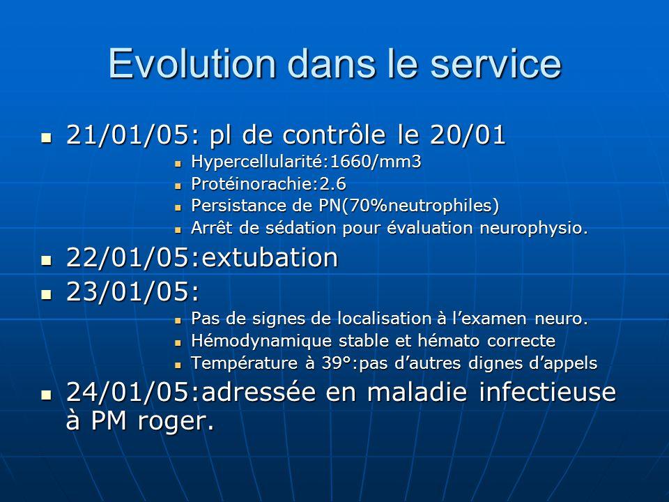 Evolution dans le service