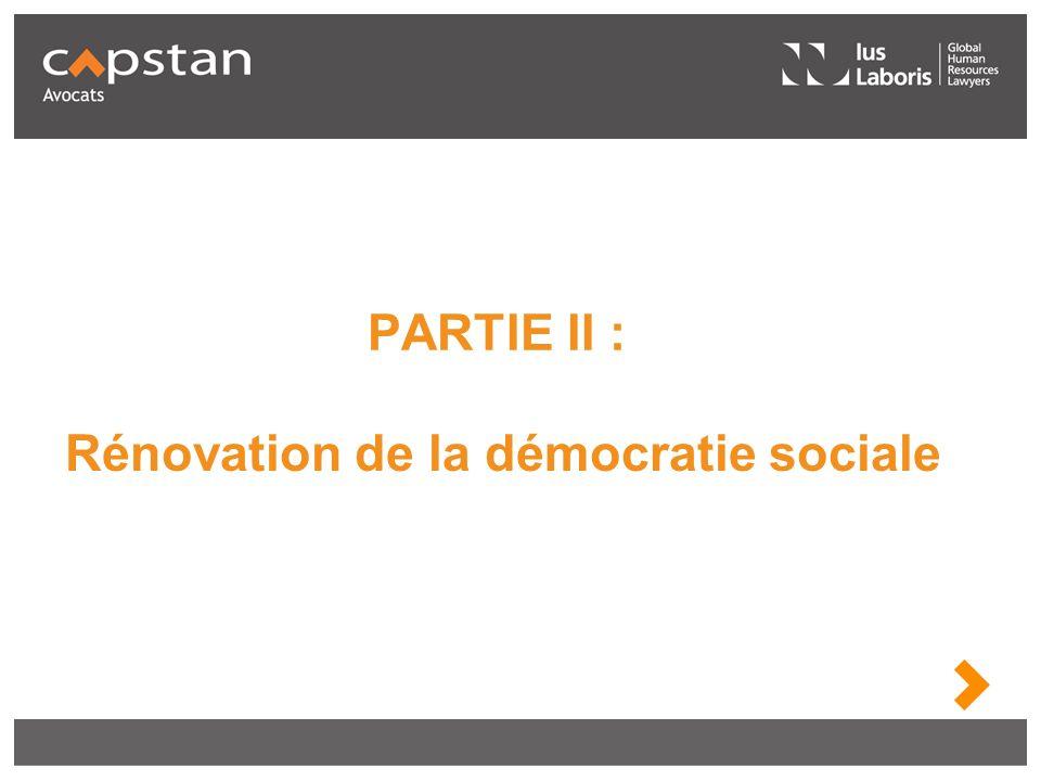 Rénovation de la démocratie sociale