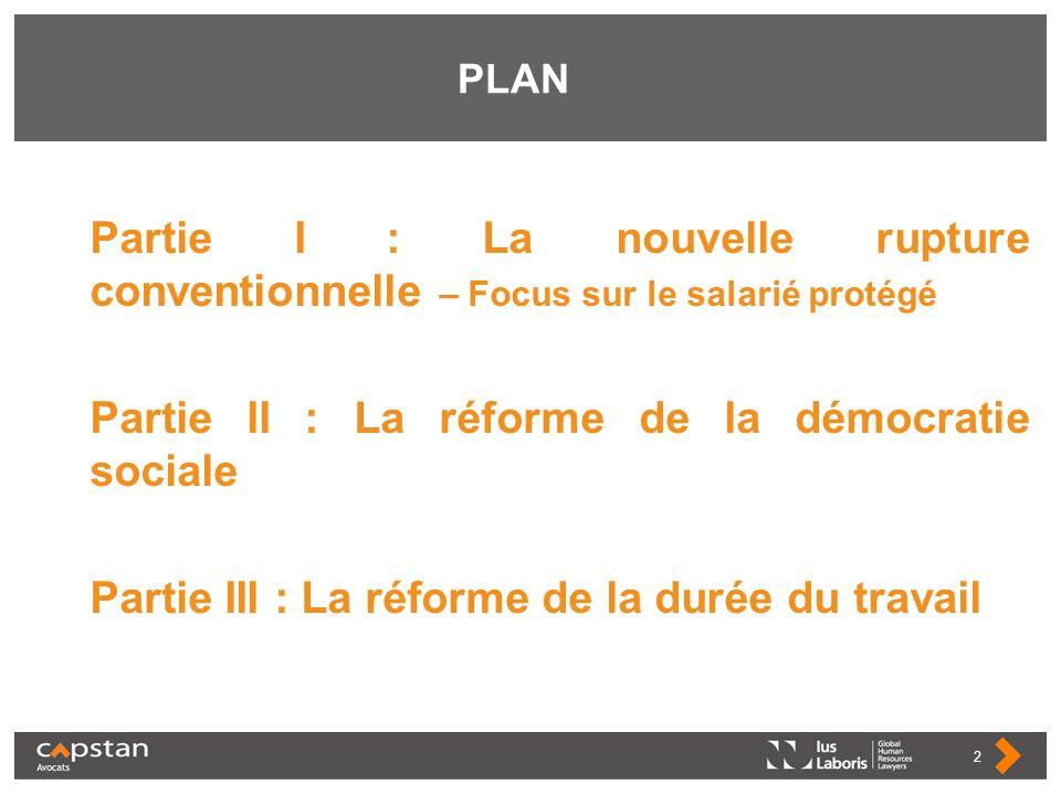 Partie II : La réforme de la démocratie sociale