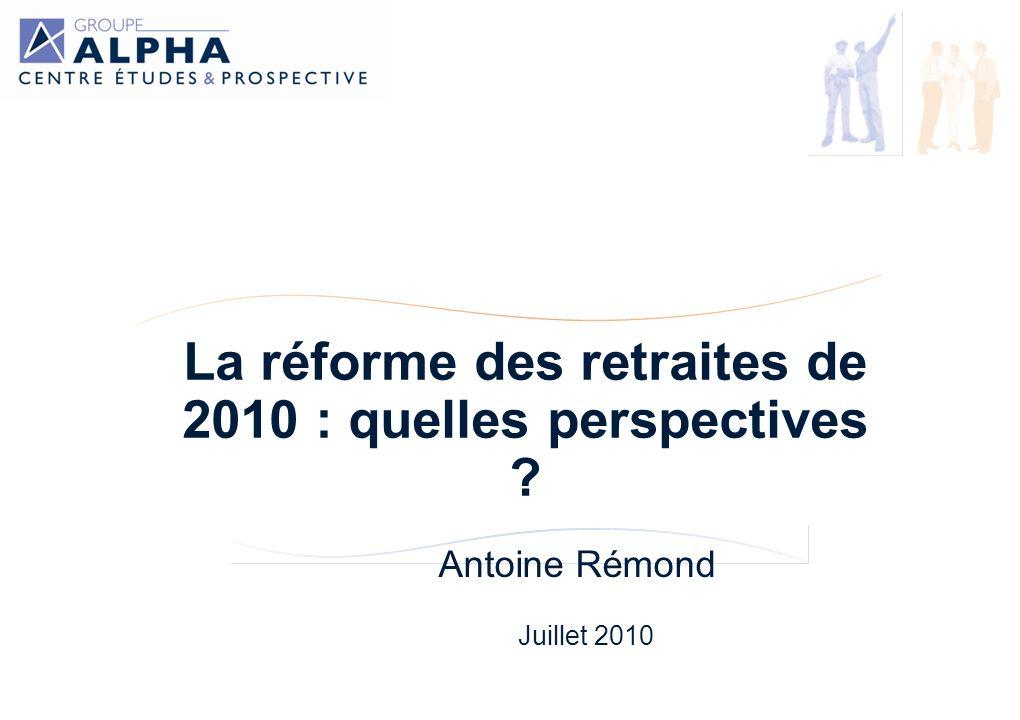 La réforme des retraites de 2010 : quelles perspectives